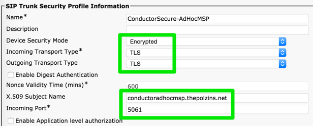 Secure Conductor with CUCM Deployment Guide Fixups | benpolzin
